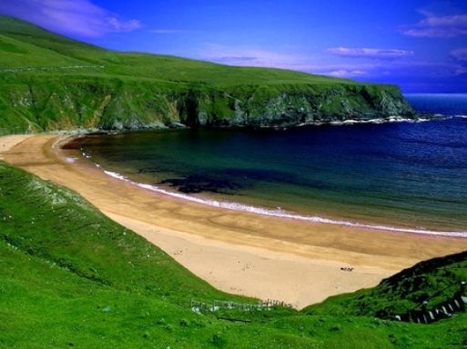 Ireland Beach are surrounded by Emerald Green