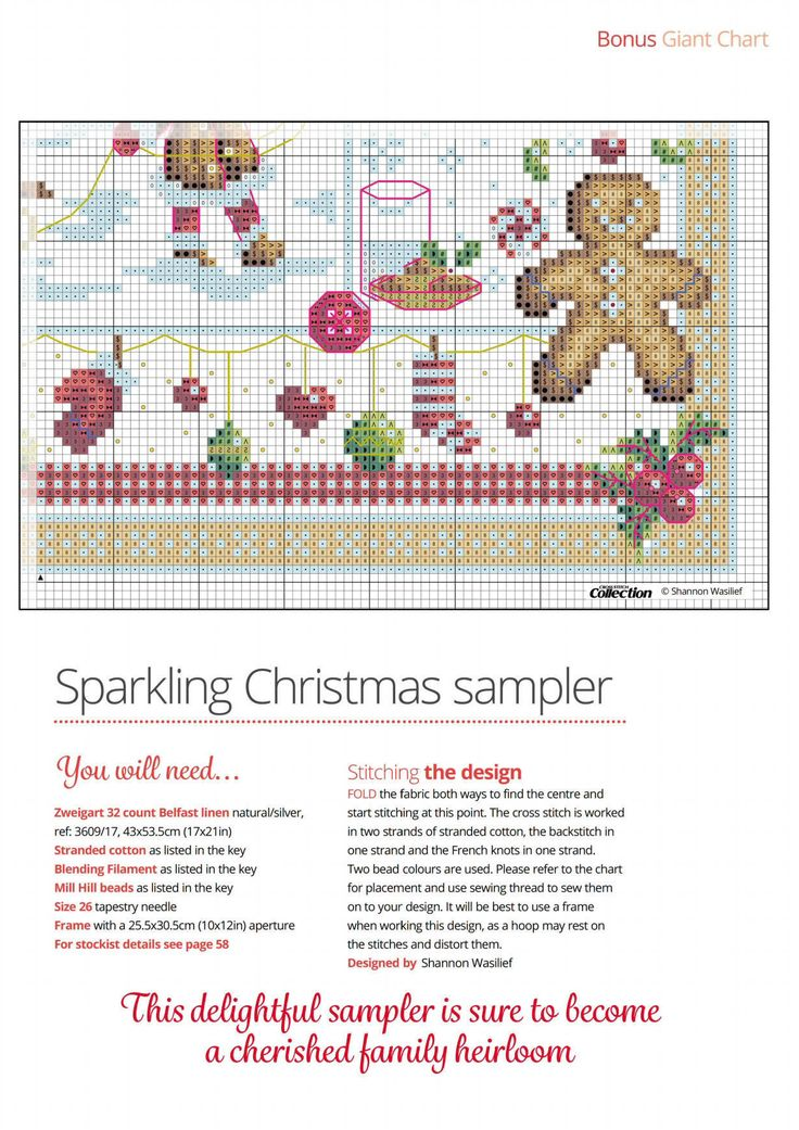 8 of 9 Christmas Joy  From Cross Stitch Collection N°267 October 2016