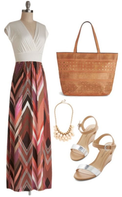 Dressy Maxi Dress Summer Outfit!