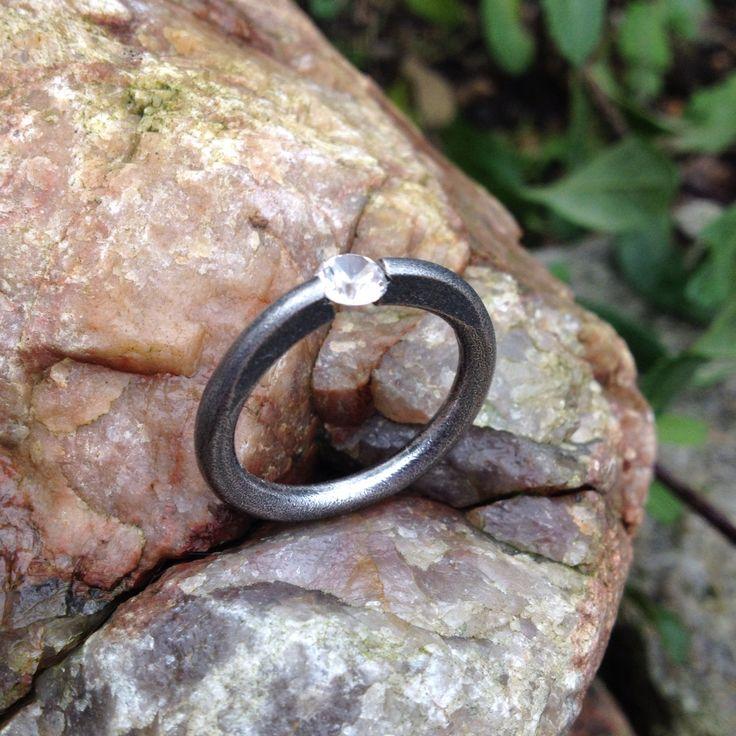 Oxiderat silver med cubic zirkon