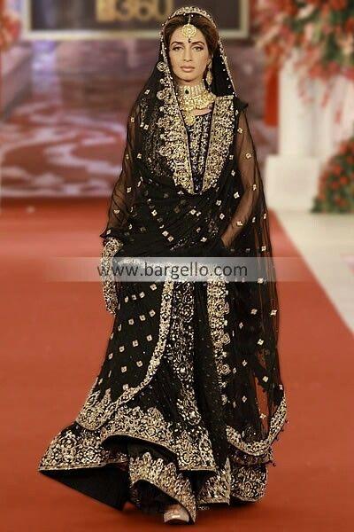 Gorgeous Black Sharara In 2019 Pakistani Wedding Dresses