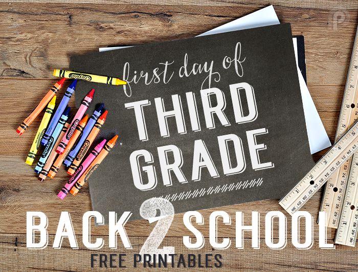 Free Back to School printables