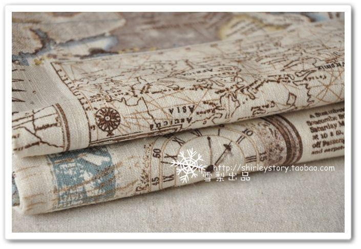 DIY ткань ткани ручной работы / хлопчатобумажная ткань корейского средиземноморском стиле одно пятно Полный навигационная карта -! Taobao