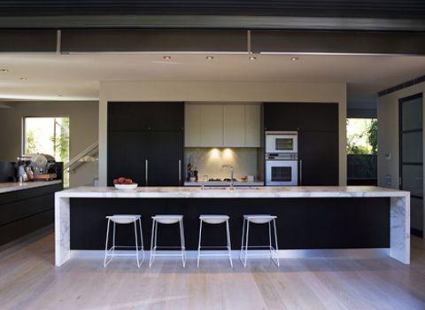 Stunning Waterfall Island Bench Kitchen Ideas Kitchen