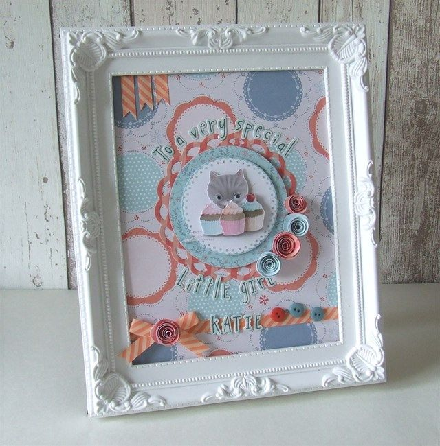 Turn an inexpensive frame into a pretty home decor gift for a cat lover!