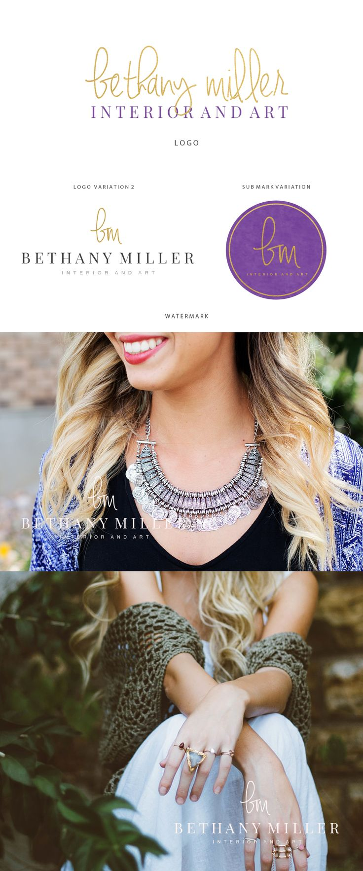 Branding kit logo design -Initials logo design - Gold purple logo design - Interior logo design - Photography logo desgn - Art logo design  A premade logo is a quick and easy way to  get a beautiful and professional looking brand identity. This premade logo will be modified with you shop name or personal name and tagline.. Pretty and affordable https://www.etsy.com/listing/481335355/branding-kit-logo-design-initials-logo?ref=shop_home_active_3