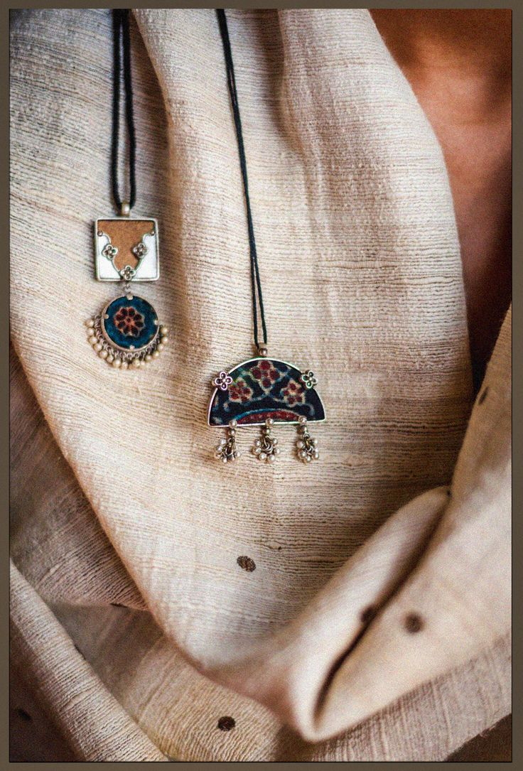 Two of our stunning silver pieces from 'अर्क' collection... #shopnow…