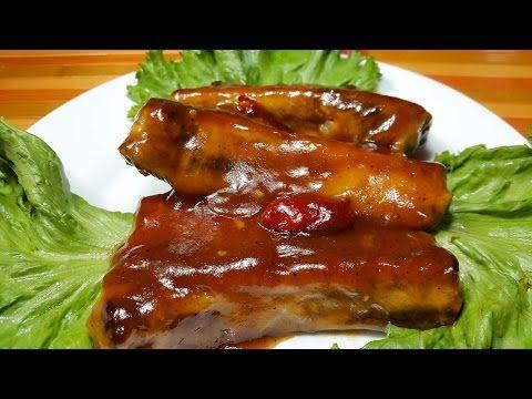 Costillas en salsa BBQ casera | Cocinando con angel - YouTube