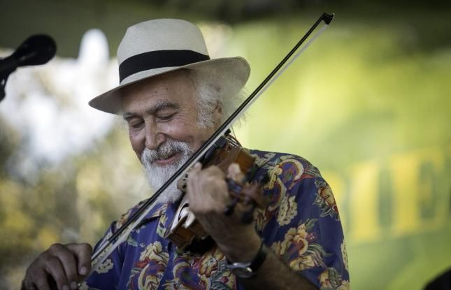 Cajun fiddler Michael Doucet is a famous Louisiana Cajun musician.
