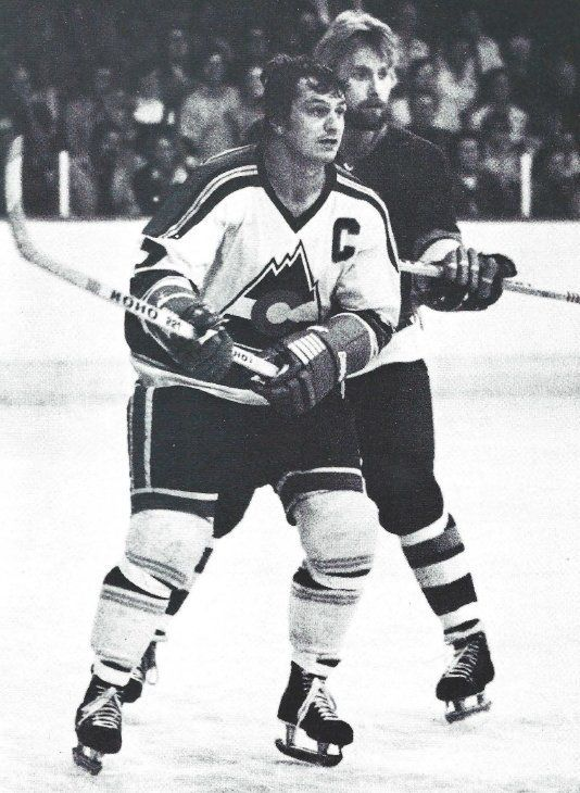 Early versions of the Rockies' uniforms featured striping like that of their predecessor, the Kansas City Scouts. (NHL News Archive (@NHLNewsArchive) | Twitter)