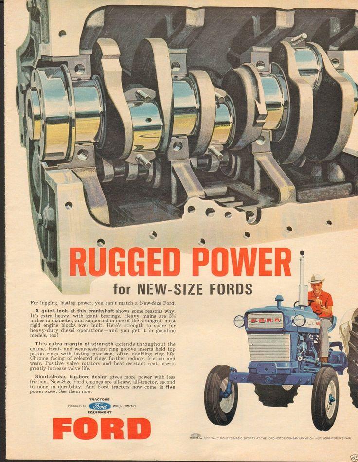 1965 New Size Ford Farm Tractor Engine Large Magazine Ad eBay