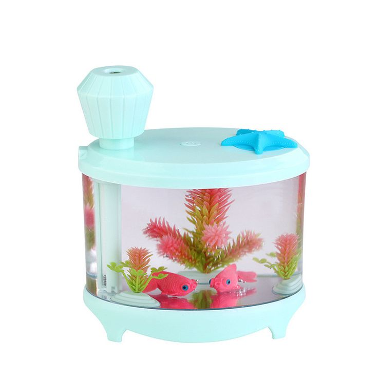 niceeshoptm usb essential oil diffuser portable small fish tank cool mist aroma humidifier air purifier with 7 cloor led lights and timer