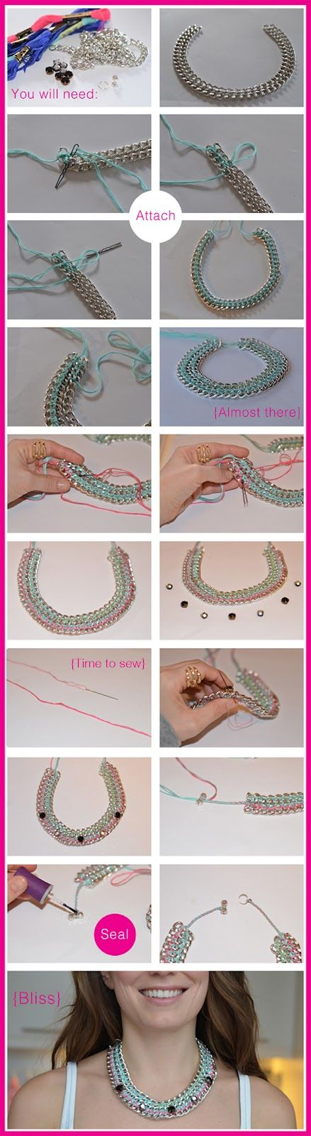 colorful chain necklace for spring
