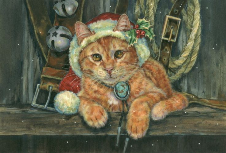 Western Christmas Cat Donna Race