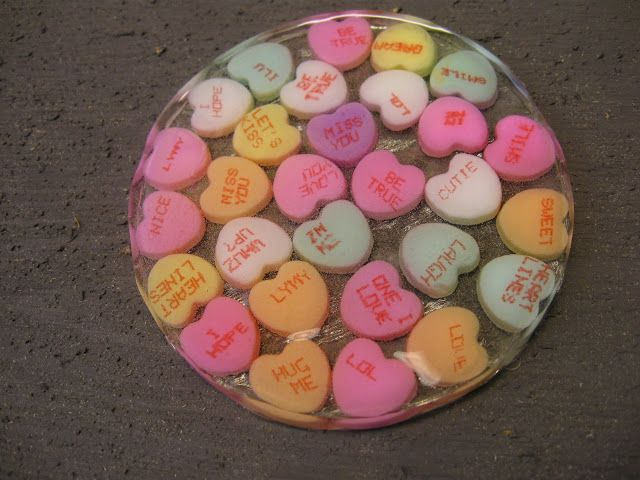 valentine's craft, valentine's day craft, craft, crafting, easy, fun, resin, coaster, holiday, decor, gift, present, how to make, how to cast resin