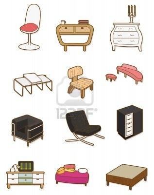 cartoon Furniture icon Stock Photo