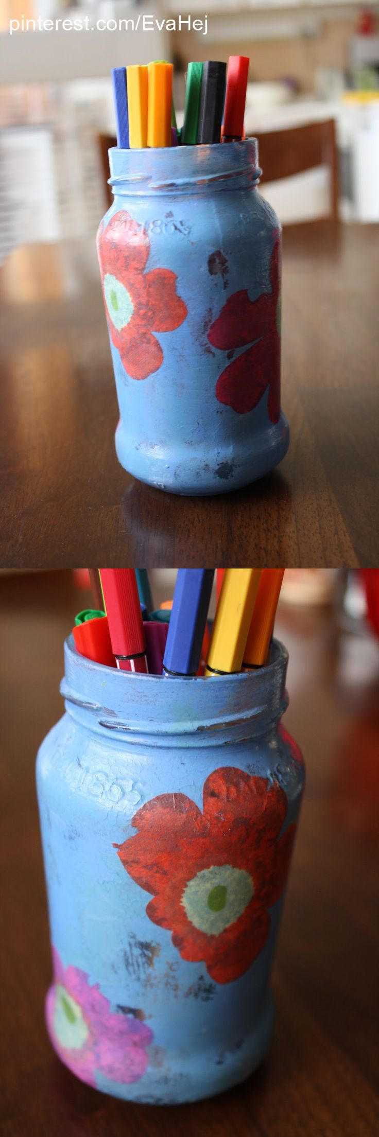 Old jar decoupage