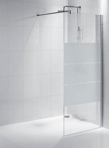 Mamparas Para Baño De Acero Inoxidable:mampara fija de baño, vidrio templado de 8 mm sobre perfilería de