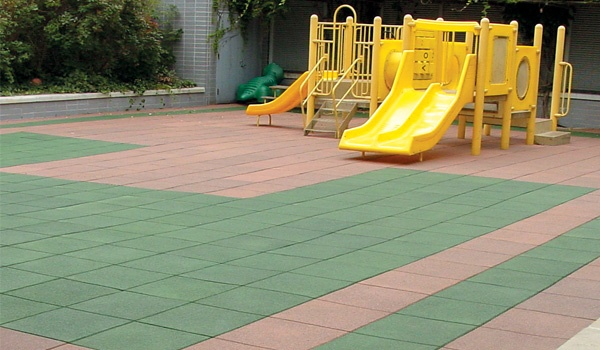 32 best design ideas playgrounds images on pinterest for Outdoor safety flooring