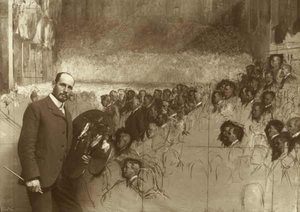 Tom Roberts painting 'The Opening of the First Parliament of the Commonwealth of Australia, May 9, 1901, by H.R.H. The Duke of Cornwall and York, Exhibition