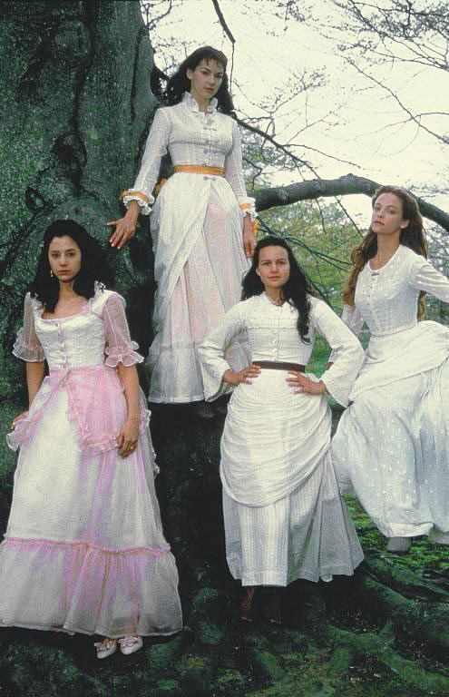 """The Buccaneers (1995) Starring: Mira Sorvino as Conchita """"Connie"""" Closson, Rya Kihlstedt as Elizabeth """"Lizzy"""" Elmsworth, Carla Gugino as Annabel """"Nan"""" St. George, and Alison Elliot as Virginia """"Jinny"""" St. George. Because of their """"new money"""" background, four American girls have difficulty breaking into the upper-crust society of New York. Laura Testvalley, Nan's governess, suggests a London season and thus the young women set sail for England and the unsuspecting English aristocracy."""