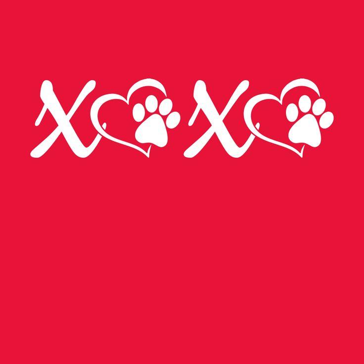 Download Dog Paw Print SVG | Love XOXO Valentine | Designs4Screen ...