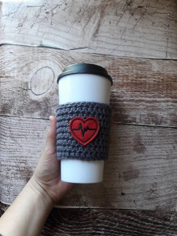 Check out this item in my Etsy shop https://www.etsy.com/listing/592359142/ekg-heart-cup-cozy-crochet-cup-cozy