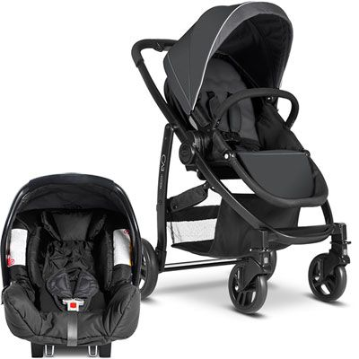 Graco Pack poussette duo evo + junior baby charcoal ts