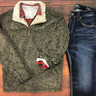 The perfect men's outfit isn't complete without a True Grit pullover!
