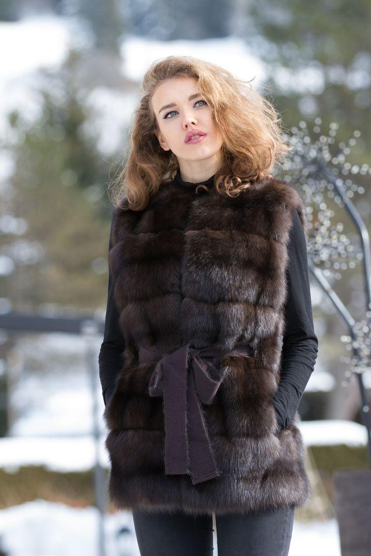 Elegant Russian Sable vest