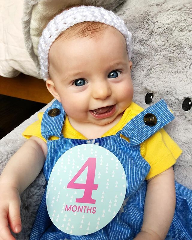 Happy 4 Months To My Beautiful Smart Strong Little Munchkin Harper