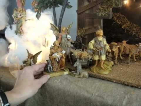 Fontanini Nativity Scene - YouTube. A great showcase of a complete Fontanini set and a great explanation of of the Fontanini brand and stories. #NativityStories