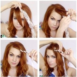 A little braiding and a little lace goes a long way in this easy hairstyle, perfect for the vintage chick and a humidity buster to boot!Hair Colors, Hair Tutorials, Diy Hair, Red Hair, Summer Hair, Long Hair, Girls Hairstyles, Hair Style, Cute Hairstyles