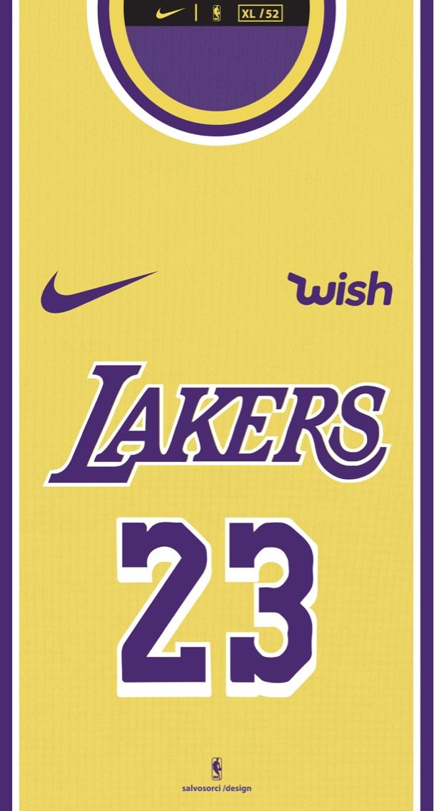 the latest b953e 79120 LOS ANGELES LAKERS NBA LeBron James 23 shirt wallpaper 2019 ...