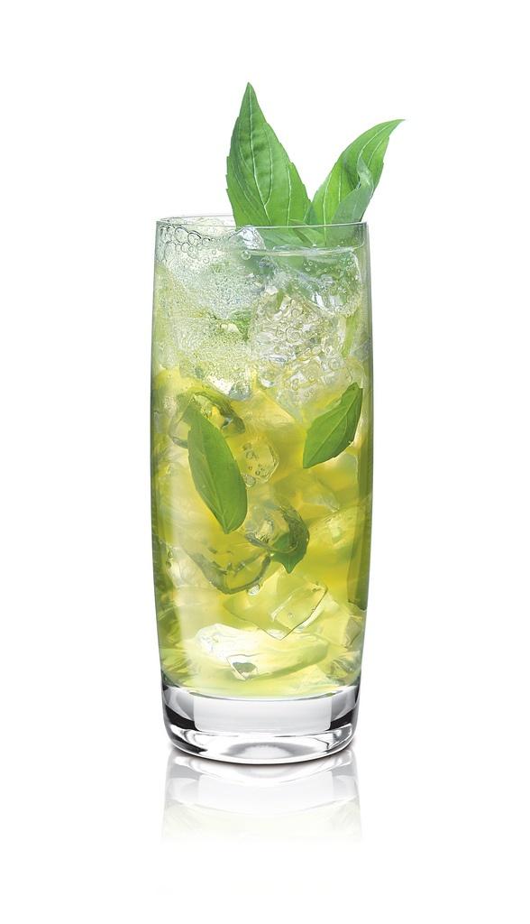 Rumjito...•1.5 oz Flor de Caña 7 Year Grand Reserve Rum •1 oz CAMUS VS Cognac •1 tbs superfine sugar •4 sprigs of fresh mint •Lime wedges •Tonic water