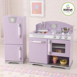Purple Retro Kitchen And Refrigerator #prplkitchen