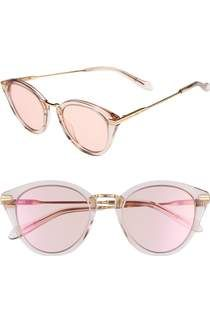 Free shipping and returns on Women's Pink Mirrored Sunglasses at Nordstrom.com.