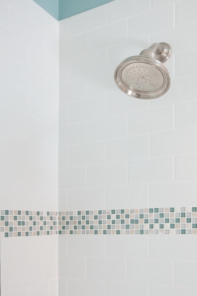 bathroom glass tile accent traditional bathroom designed by castle building and remodelings interior - Glass Tile Castle Ideas