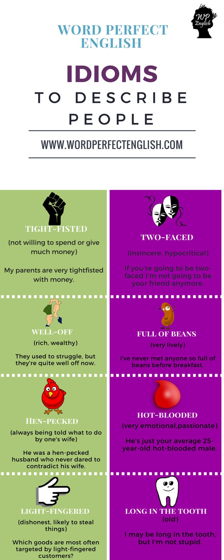 Idioms to Describe People 2/2