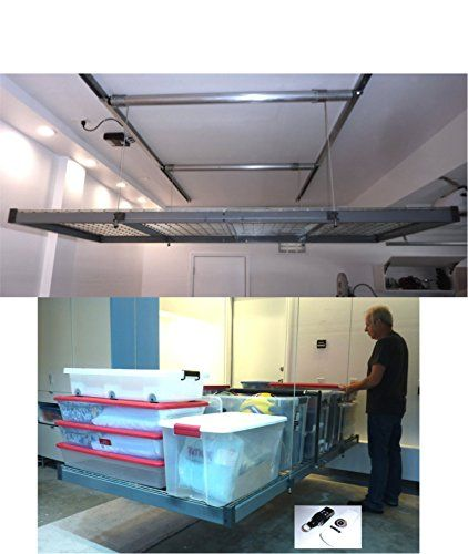 17 meilleures id es propos de stockage au plafond du for Rangement au plafond garage