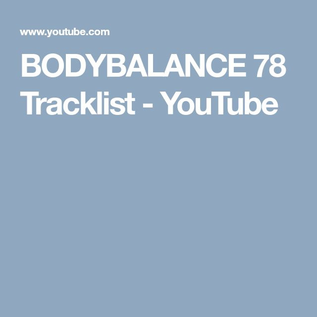 BODYBALANCE 78 Tracklist - YouTube