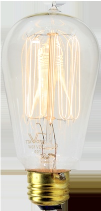 60W Squirrel-cage Tungsten-filament Bulb: Standard Base from Rejuvenation