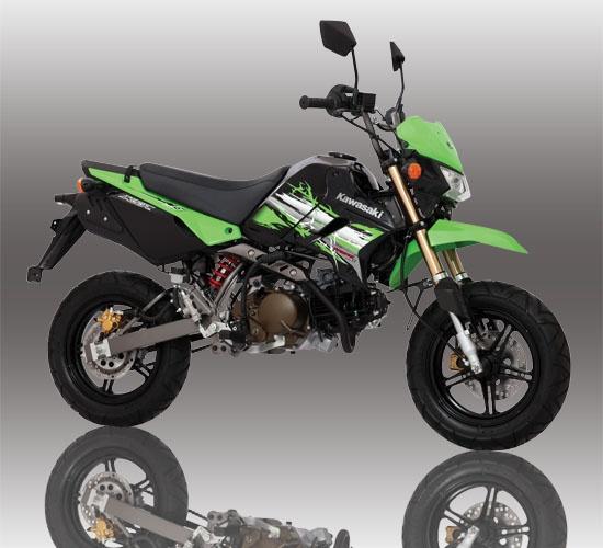 Kawasaki ksr 110. This is a cute mototbike. Street legal pit bike