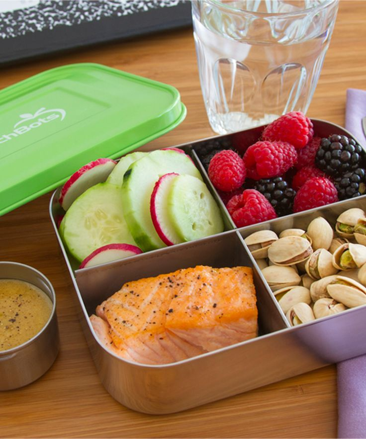 Green 20-Oz. Quad Divided Lunch Container