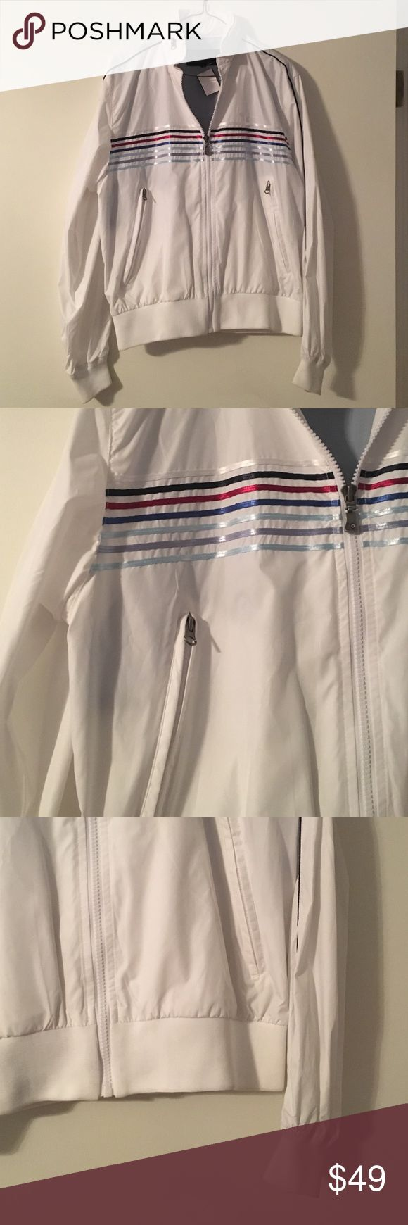 BEN SHERMAN: white windbreaker size small in excellent condition! no major flaws Ben Sherman Jackets & Coats Windbreakers