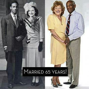 Interracial couple married for 65 years.  WE ARE THE WORLD!!!
