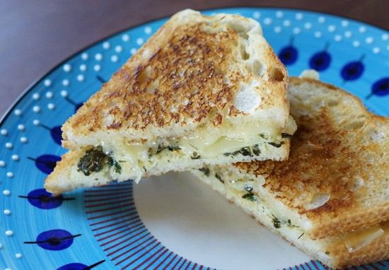 Upgrade Your Grilled Cheese With Spinach Dip!