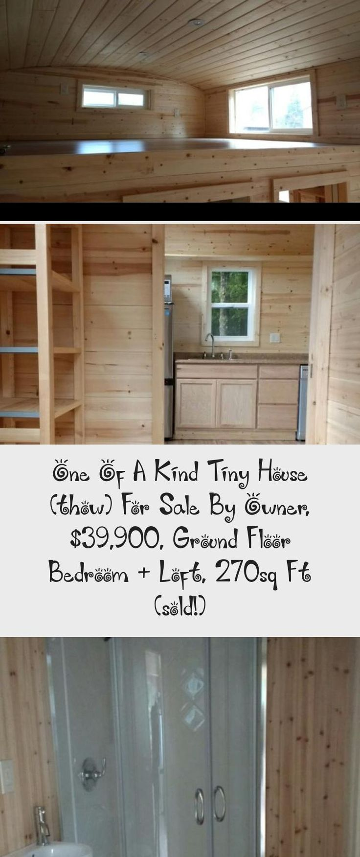 This is a custom tiny house on wheels that's for sale by