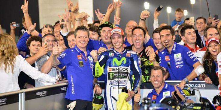 Valentino Rossi Winning the 2015 championship in Qatar MOTOGP