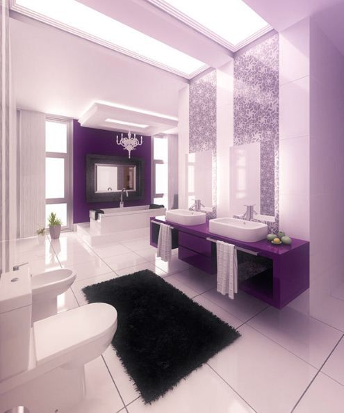 Die besten 25+ Country style purple bathrooms Ideen auf Pinterest